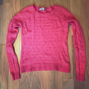 Red-orange sweater from the Loft